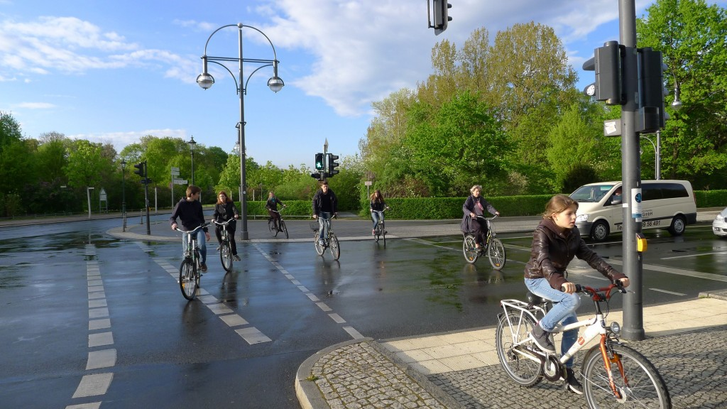 Notre groupe de vélos traversant