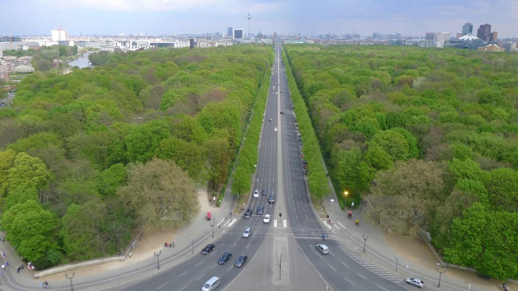 Haut colonne de la Victoire parc Tiergarten