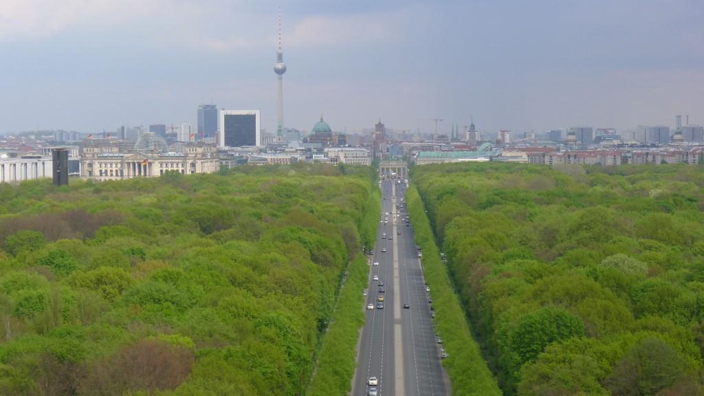 Vue haut colonne victoire Tiergarten