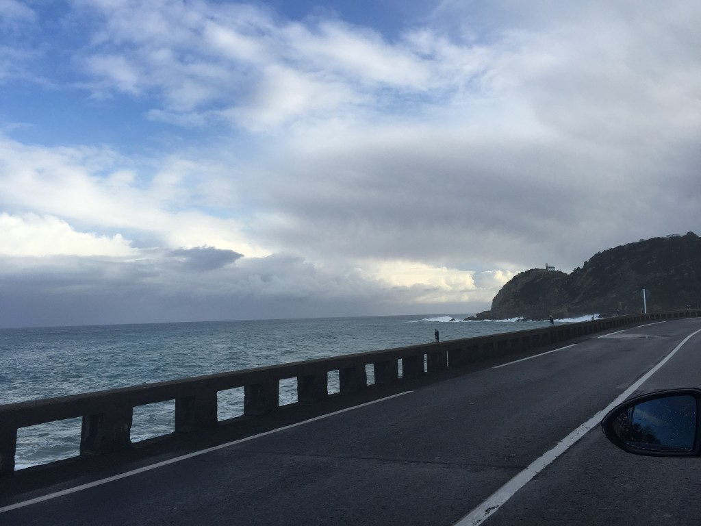 la route longeant la mer