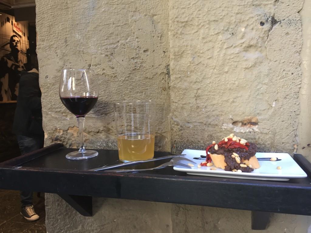 toast ... au boudin...! avec vin et cidre