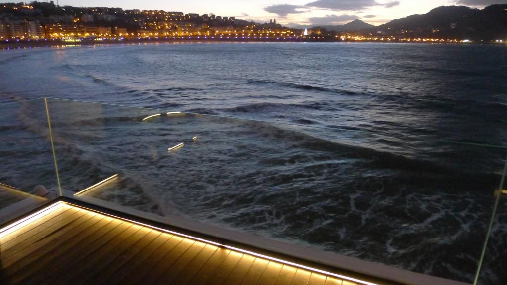 Baie avec lumiere du soir