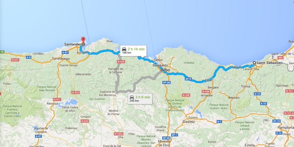 Maps santander