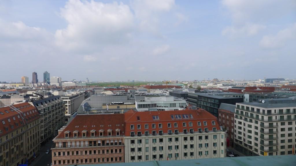 vue des toits en haut du dôme