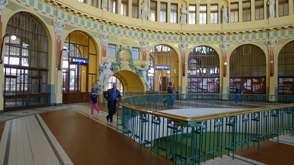 La gare art nouveau à Prague
