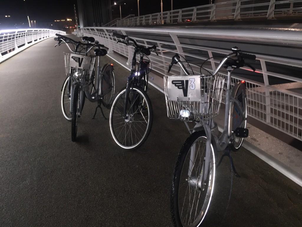 vélib sur le pont Chaban