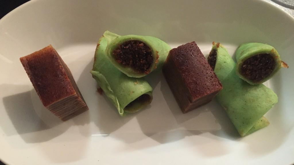 le dessert de crêpes à la coco et cannelle caramel