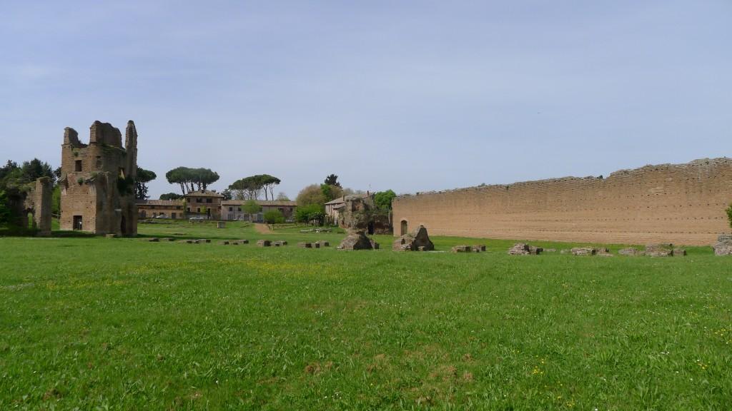 gradin du champ de course de chars sur via Appia Antica