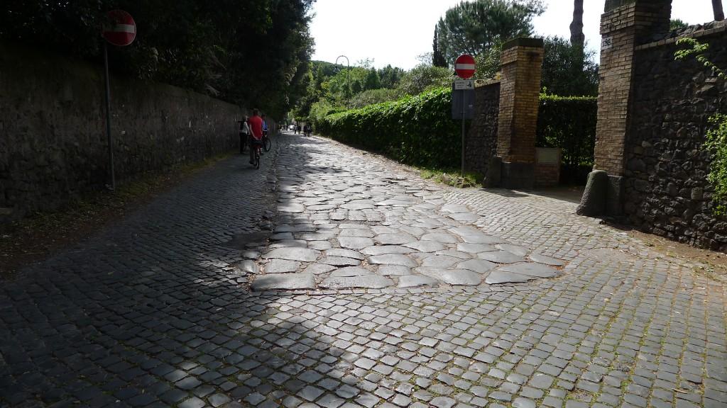 pavé sur la via Appia Antica