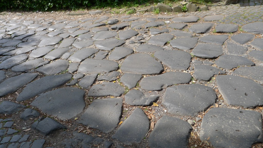 pavés sur la via Appia Antica