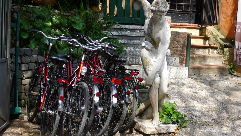 nos vélos à l'entrée