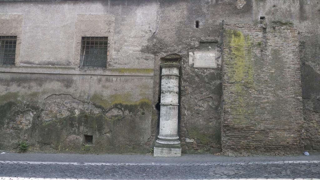 premiere borne kilométrique via Appia Antica