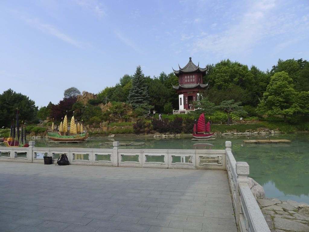 pagode dans le jardin botanique Montréal
