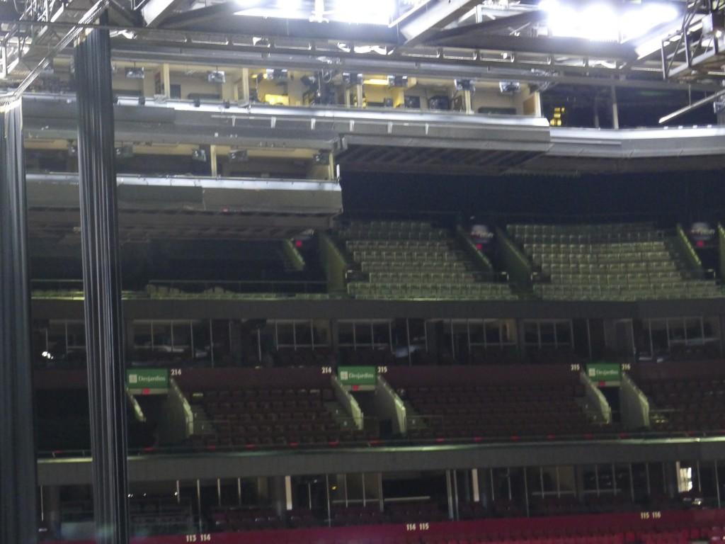 les tribunes VIP du centre Bell