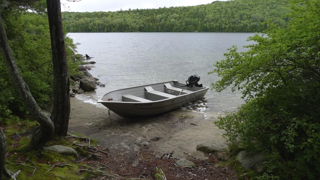 sur le lac de Sacacomie