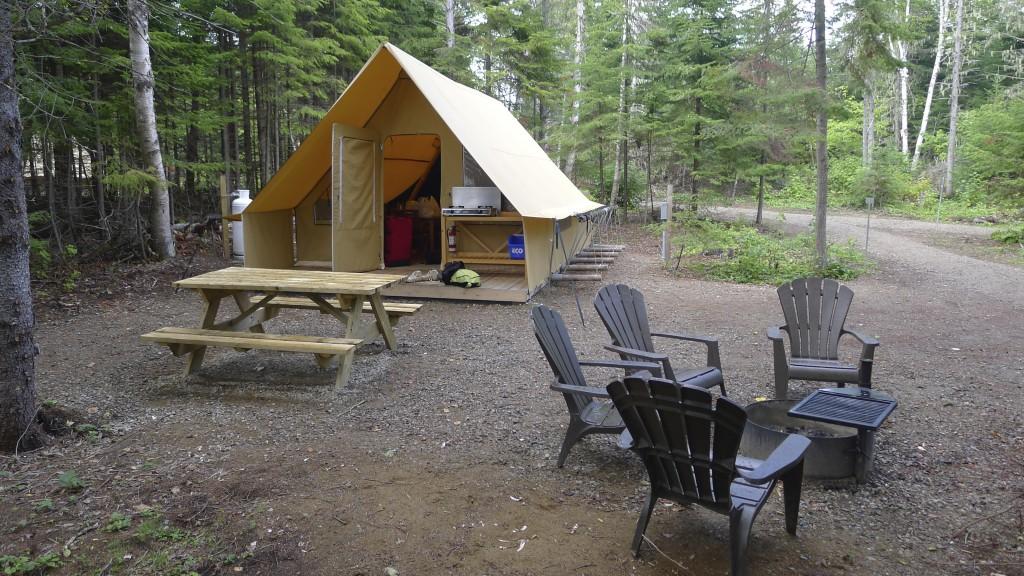 le prêt-à-camper parc de Saguenay