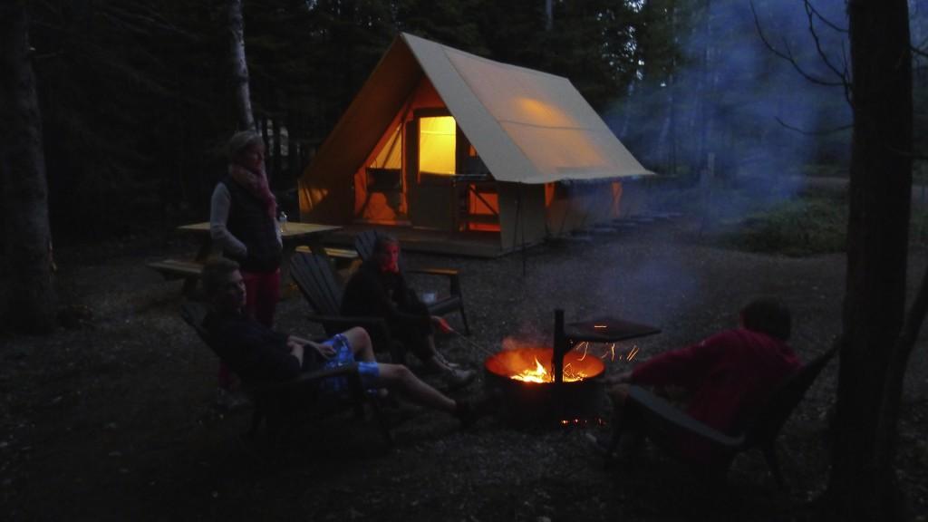 vue de notre tente