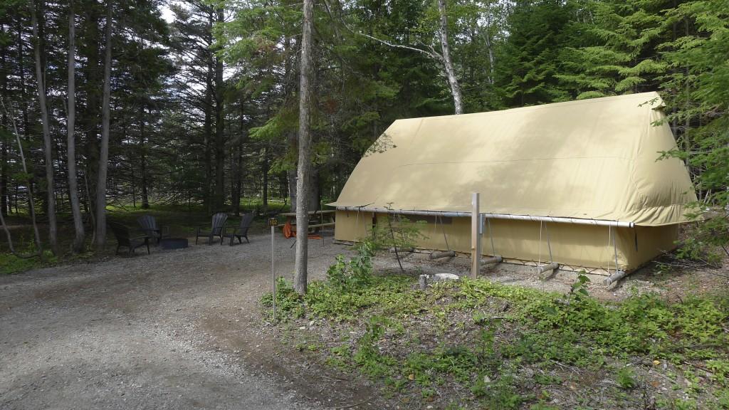 La tente prêt-à-camper