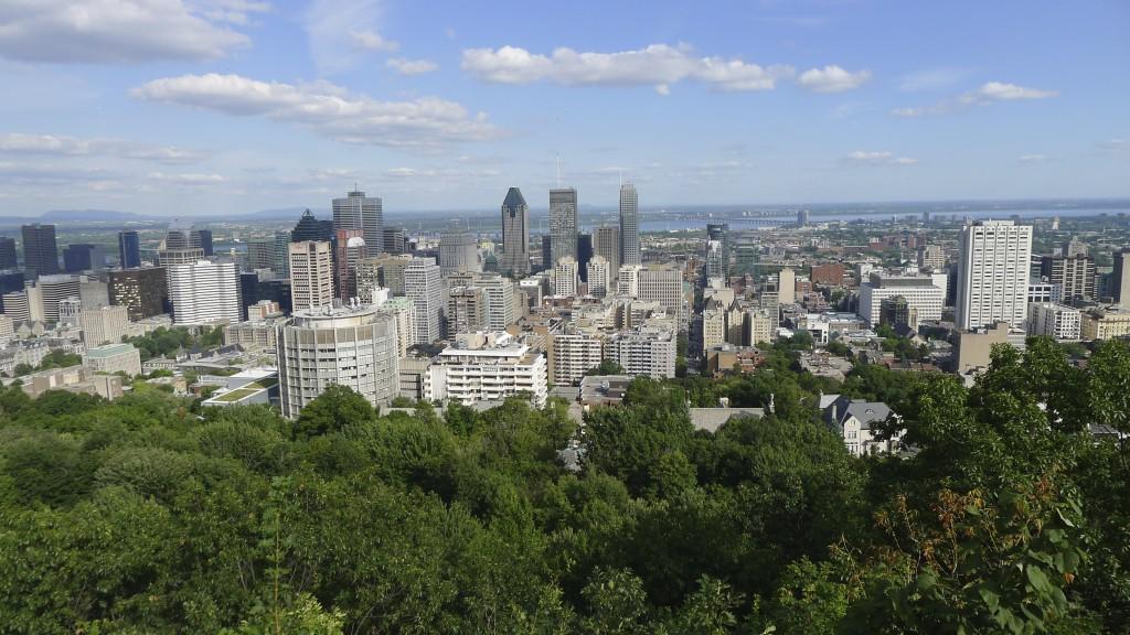 vue du belvédère Montreal