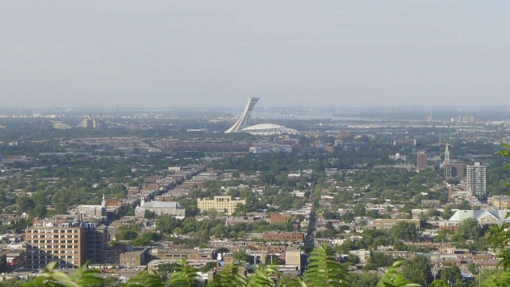 vue du stade de Montréal