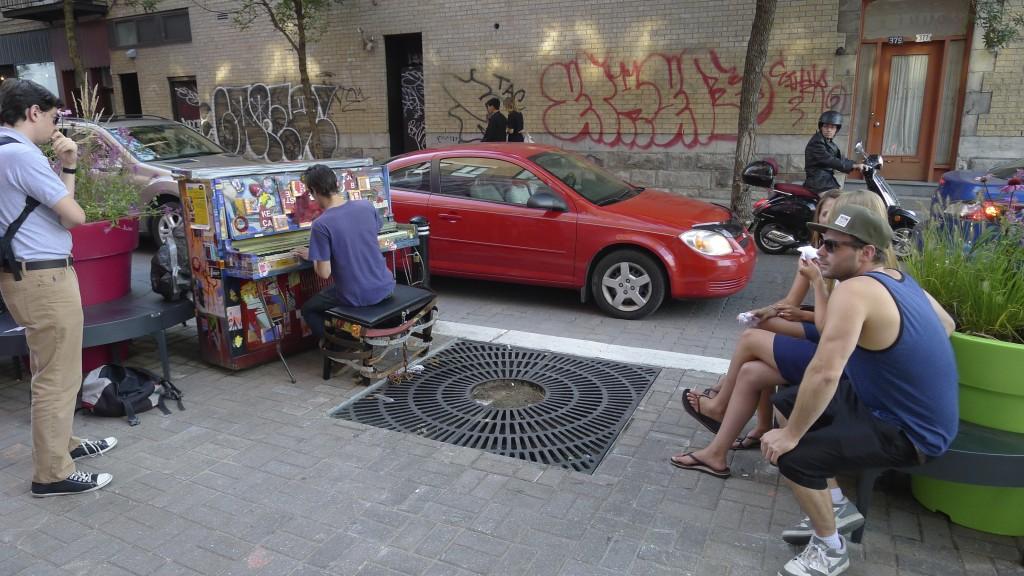 Piano de rue à Montréal