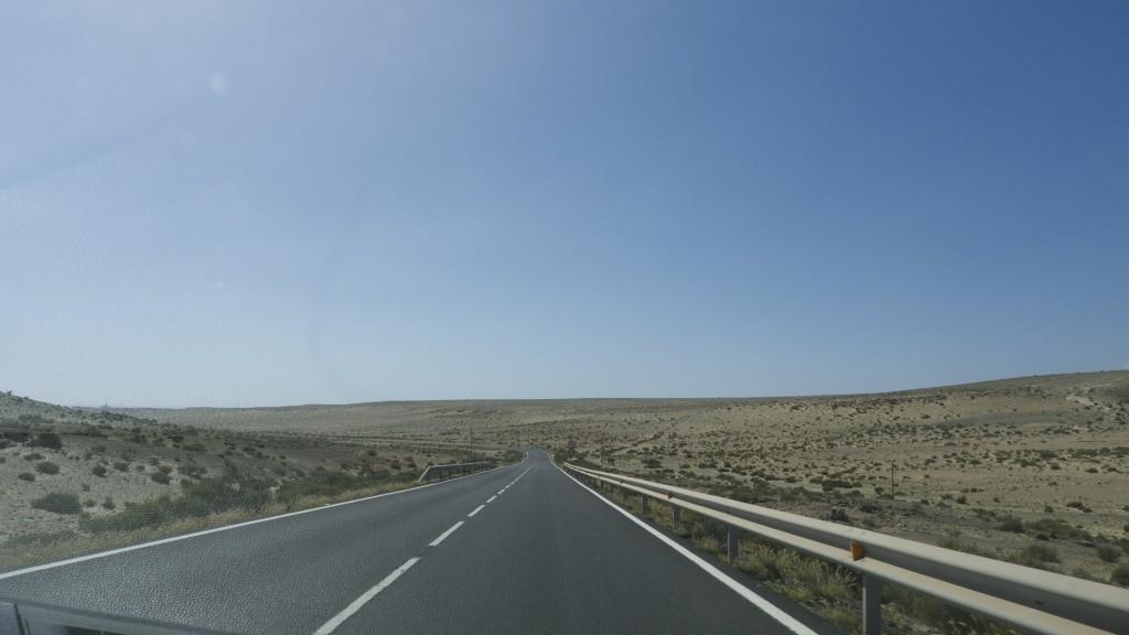 la route à Fuerteventura