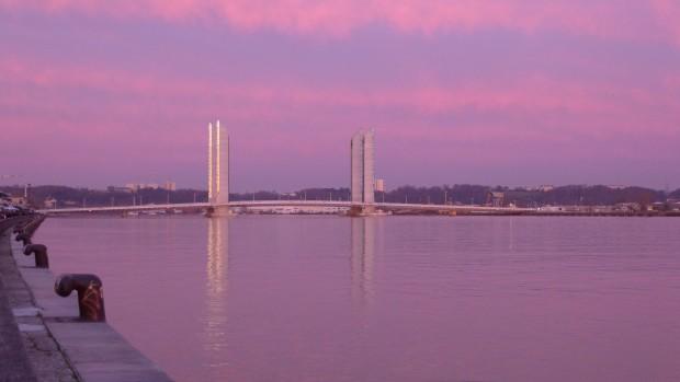 Le pont Chaban à Bordeaux