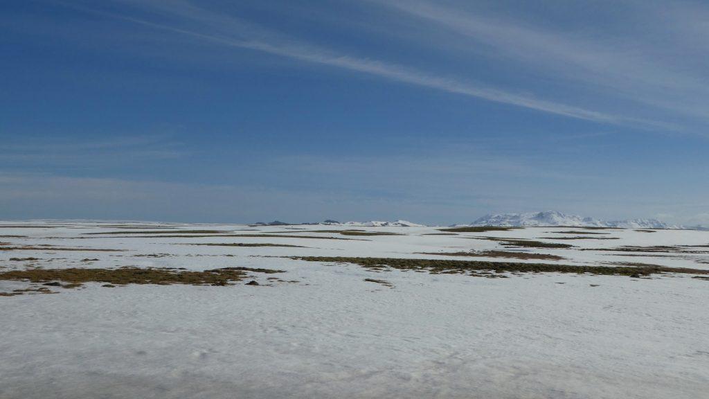paysage de neige dans Pingvellir