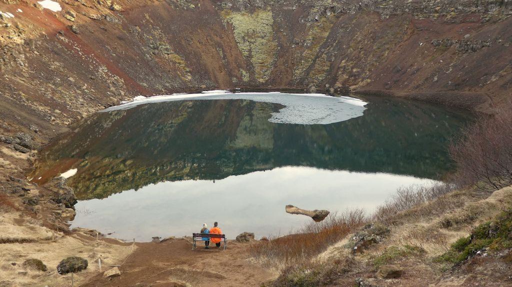petit banc sur kerid krater