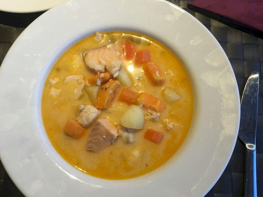 soupe islandaise à notre maison d'hôte Denami