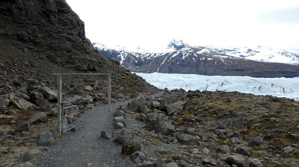 entrée pour le lac glaciaire