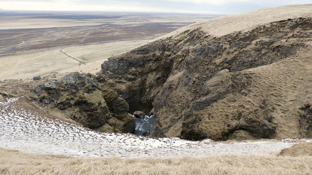 du haut de Gluggafoss