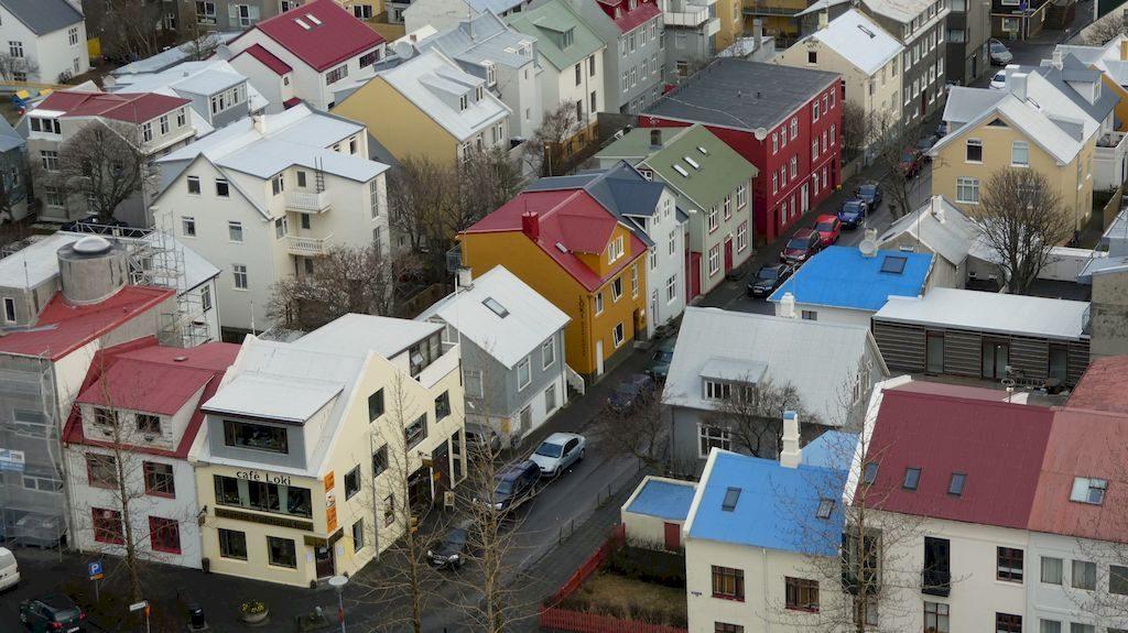 vue sur les toits de Reykjavik