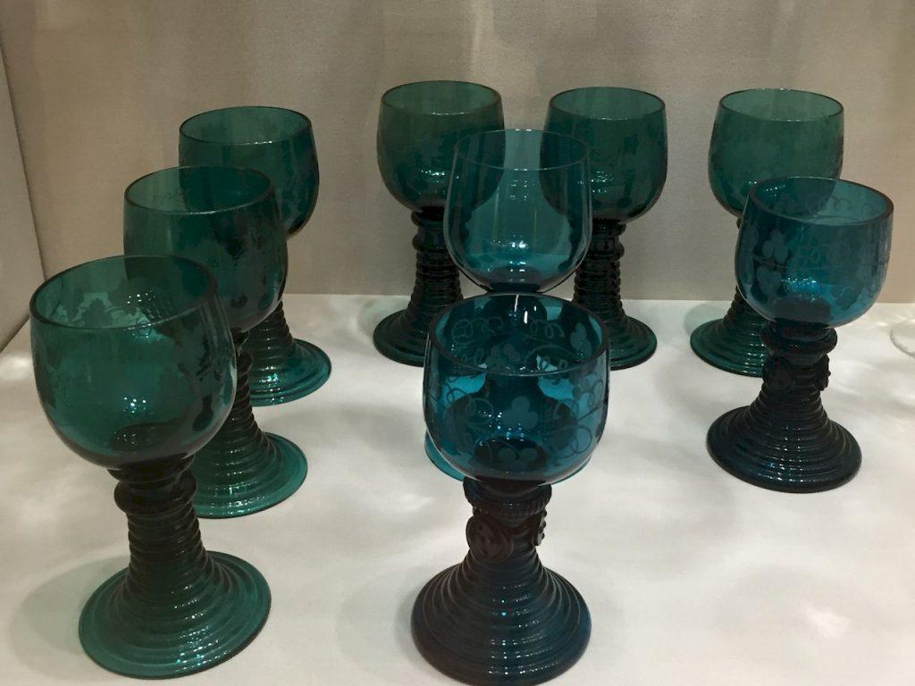 verres en cristal de Bohème