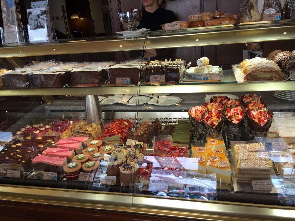 pâtisseries du café Mozart