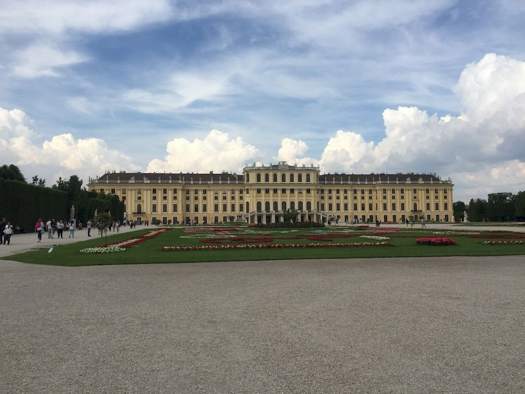la facade jardin de Schonbrunn