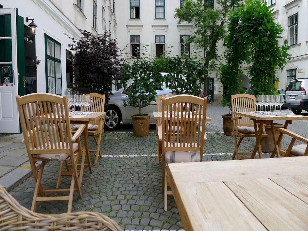 terrasse du restaurant Buxbaum