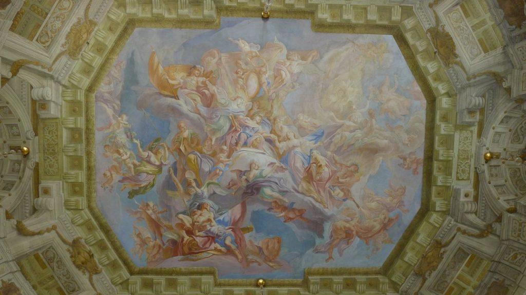 plafond de la salle de marbre