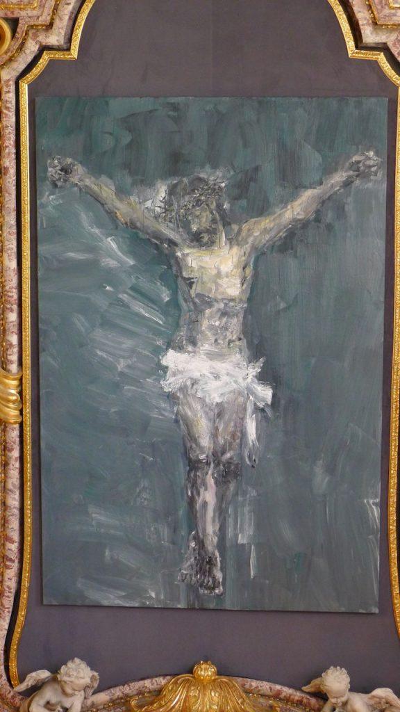 peinture dans la chapelle du Belvédère