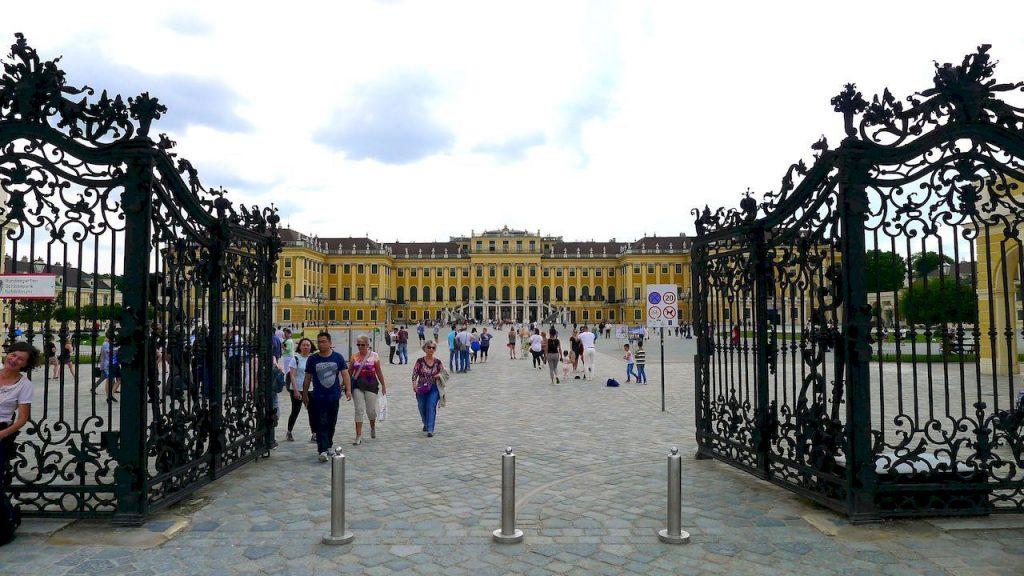 l'entrée à Schonbrunn