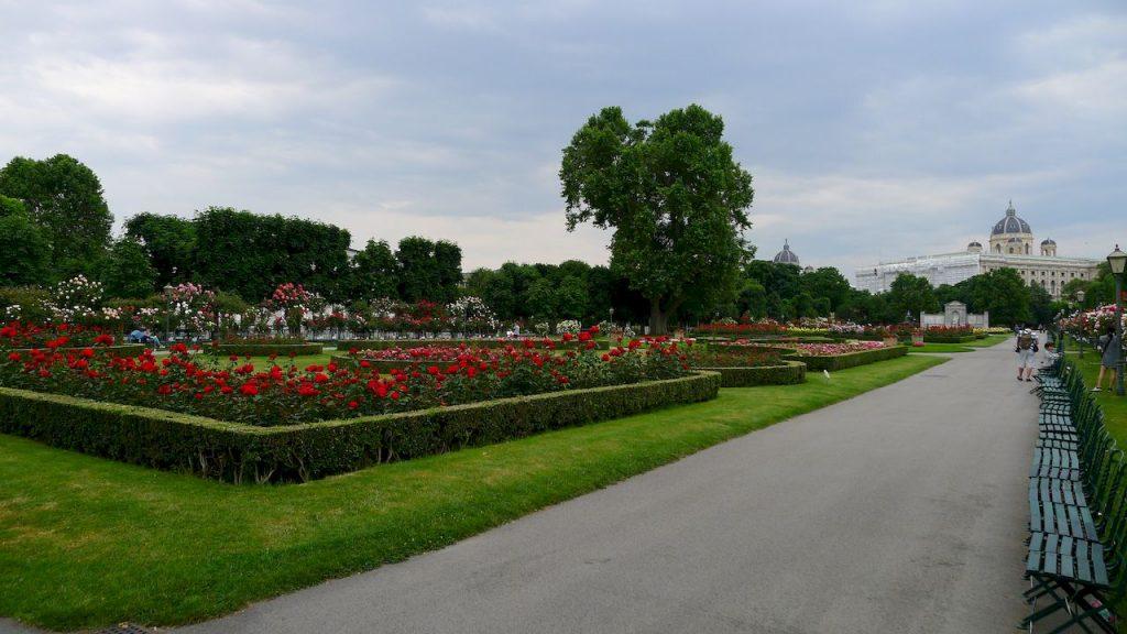 parterre de fleurs dans le burggarten