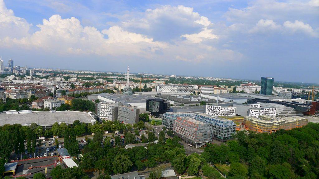 vue sur Vienne du manège du Prater