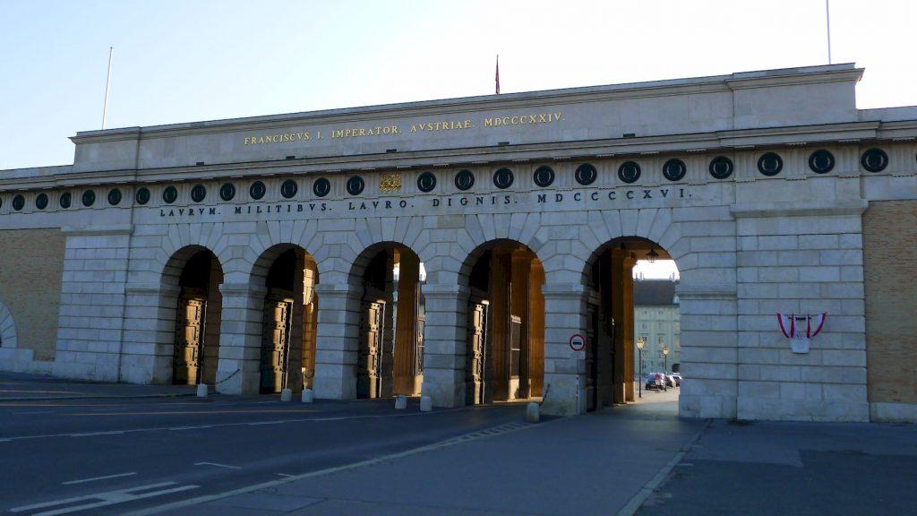 les arches pour accéder au Hofburg