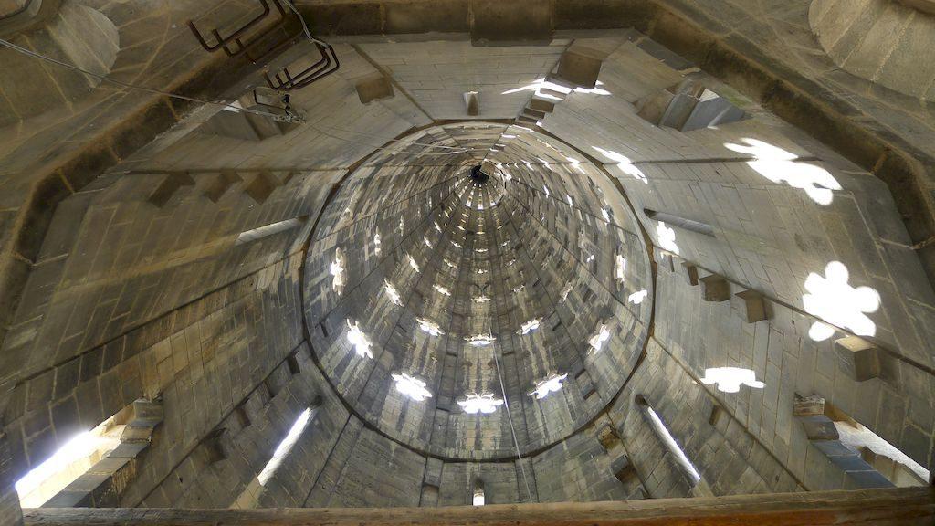l'intérieur de la flèche Saint Michel