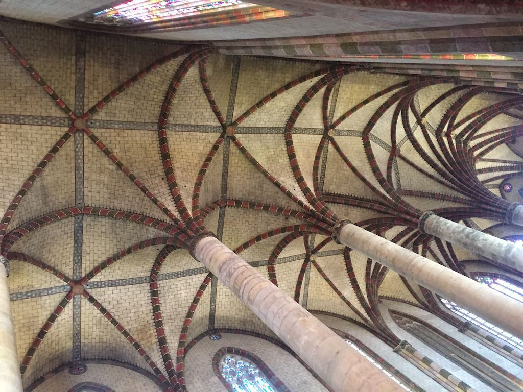 le plafond de l'église des jacobins
