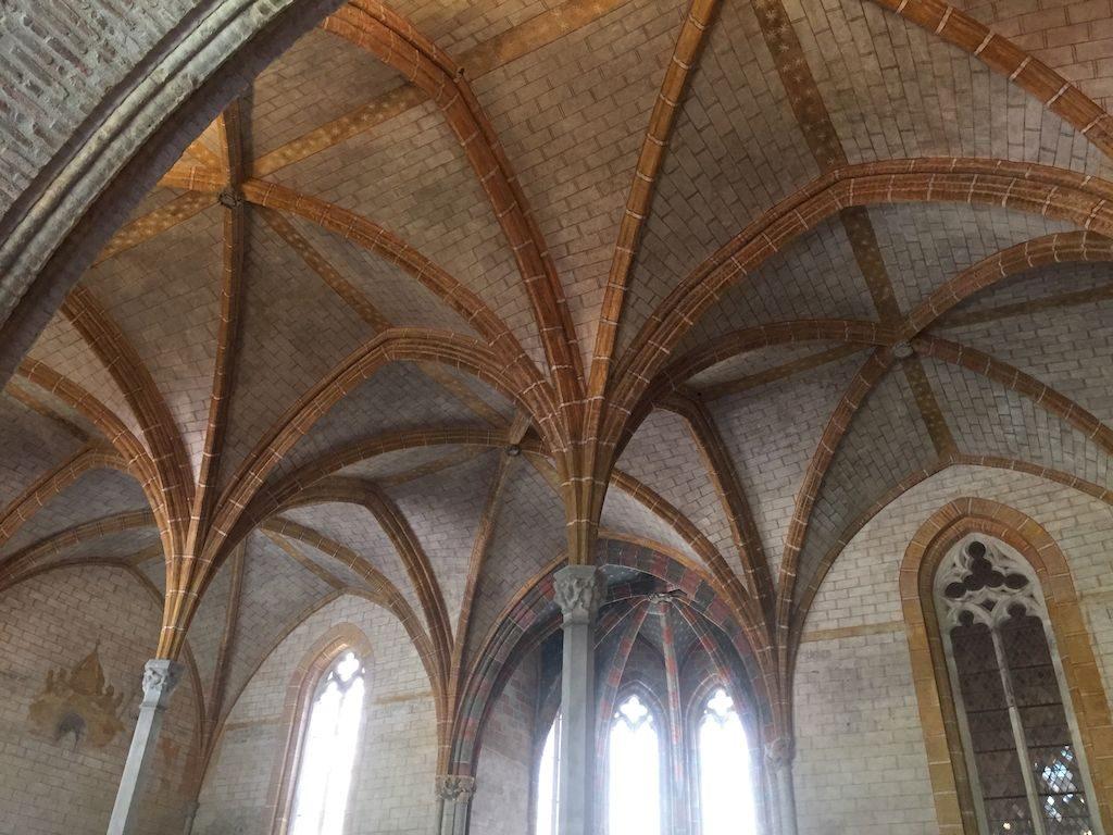 le plafond de la salle capitulaire
