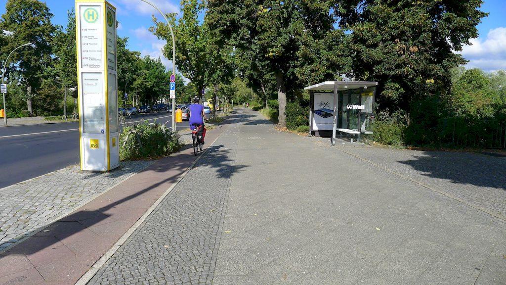 la piste cyclable vers Potsdam