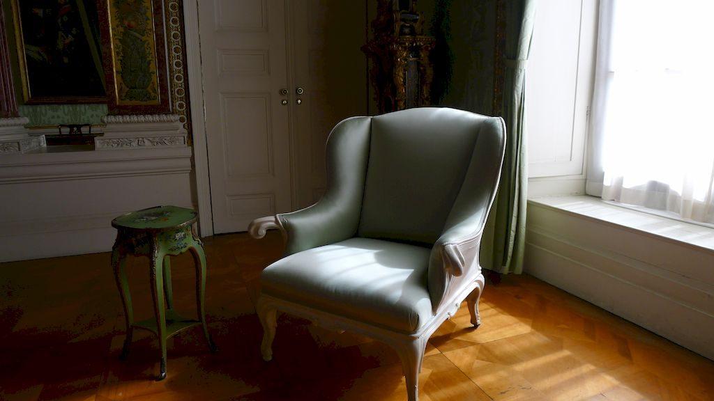 le fauteuil où mourut Frédéric II