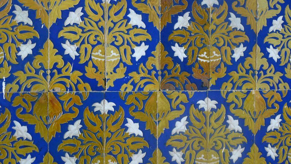 détail des azuleros sur la place d'Espagne