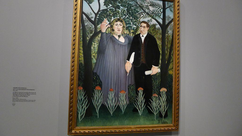 la muse inspirant le poète de Douanier Rousseau